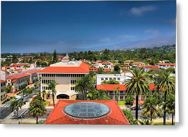 Santa Barbara Greeting Cards Greeting Cards - Birdseye View of Santa Barbara IV Greeting Card by Steven Ainsworth