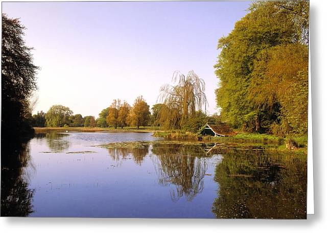 Reflections Of Sky In Water Greeting Cards - Birr Castle Demesne, Co Offaly, Ireland Greeting Card by The Irish Image Collection