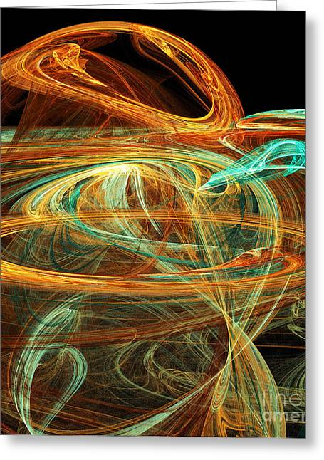Swirls Of Energy Greeting Cards - Birth Of A New Planet Greeting Card by Andee Design