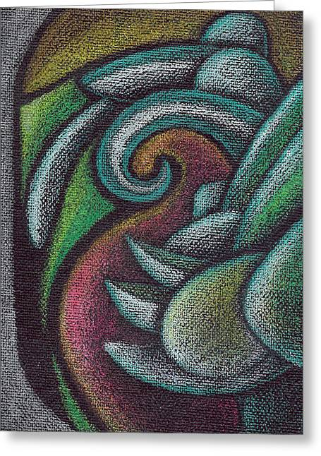 Visionary Artist Greeting Cards - Birth of the Three Toed Neoglyph Greeting Card by George  Page