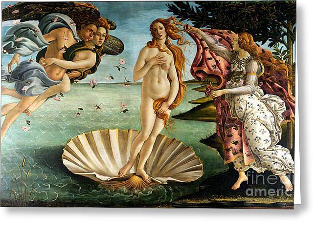 1485 Greeting Cards - Birth of Venus Greeting Card by Pg Reproductions