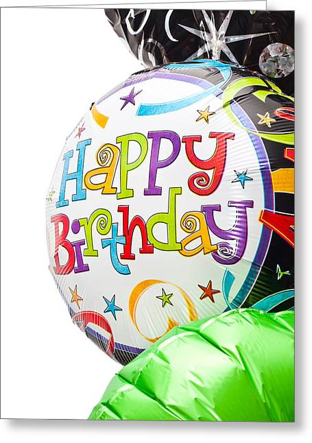 Individuality Greeting Cards - Birthday balloons Greeting Card by Tom Gowanlock