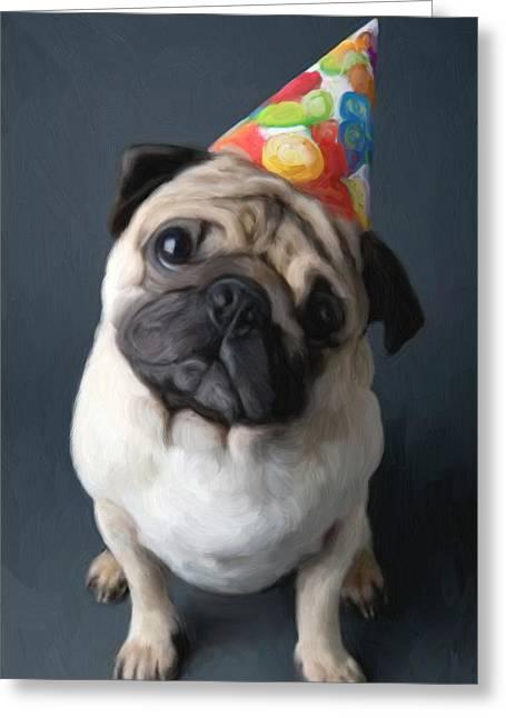 Puppy Digital Greeting Cards - Birthday Boy Greeting Card by Snake Jagger