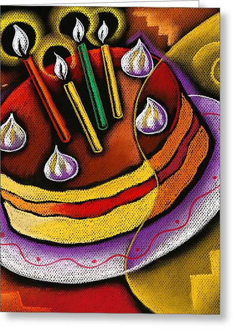 Art Product Greeting Cards - Birthday  Cake  Greeting Card by Leon Zernitsky