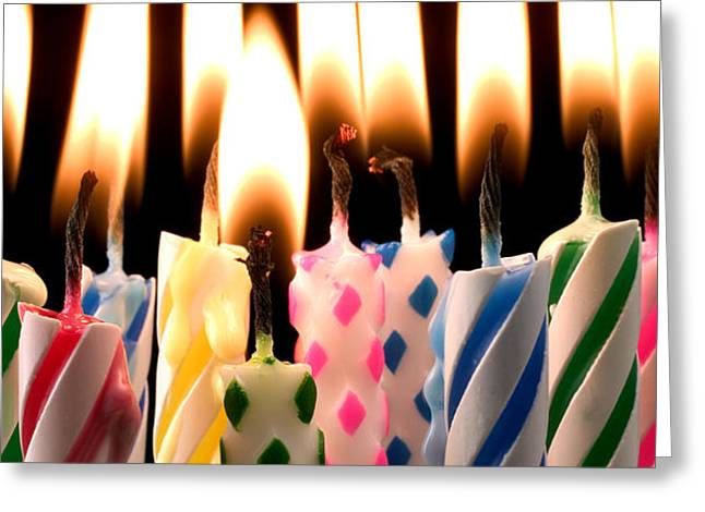 Birthday candles Greeting Card by Garry Gay