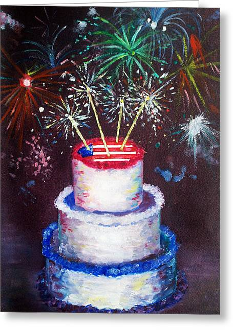 Birthday In America Greeting Card by Ann Marie Napoli