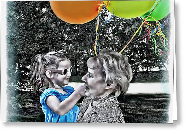 Birthdays Greeting Card by Joan  Minchak