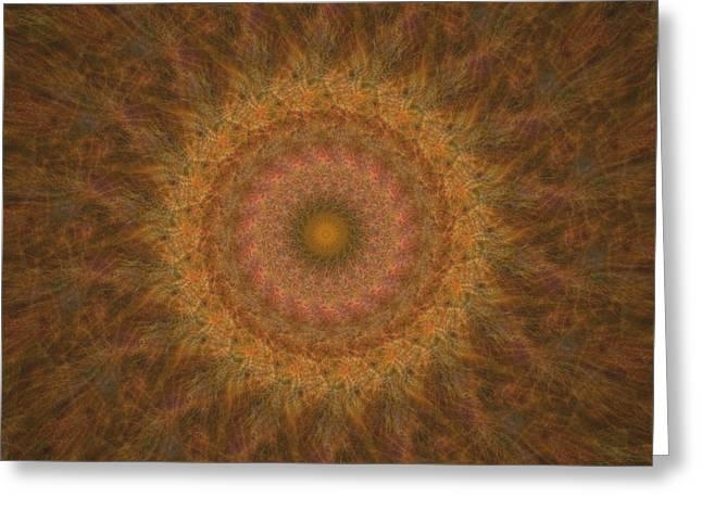 Birthing Mandala 18 Greeting Card by Rhonda Barrett