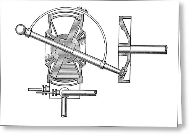 Technical Photographs Greeting Cards - Bischopp Rotary Steam Engine Greeting Card by Mark Sykes
