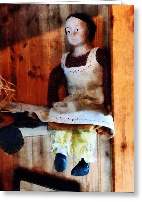 Bisque Doll Greeting Card by Susan Savad