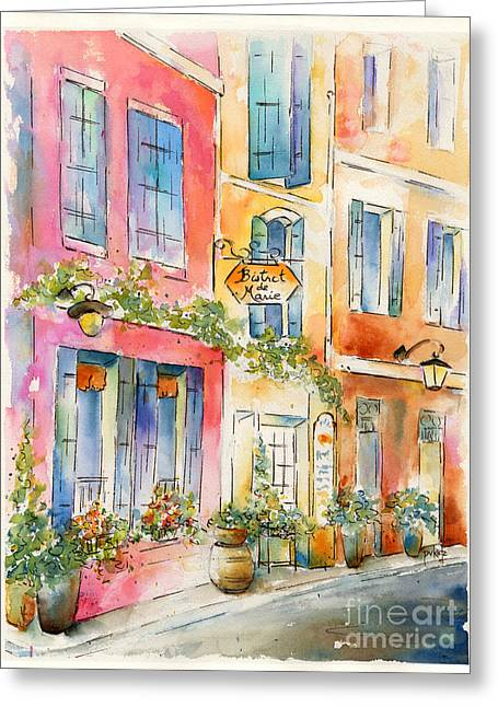 St Remy Greeting Cards - Bistrot de Marie Greeting Card by Pat Katz