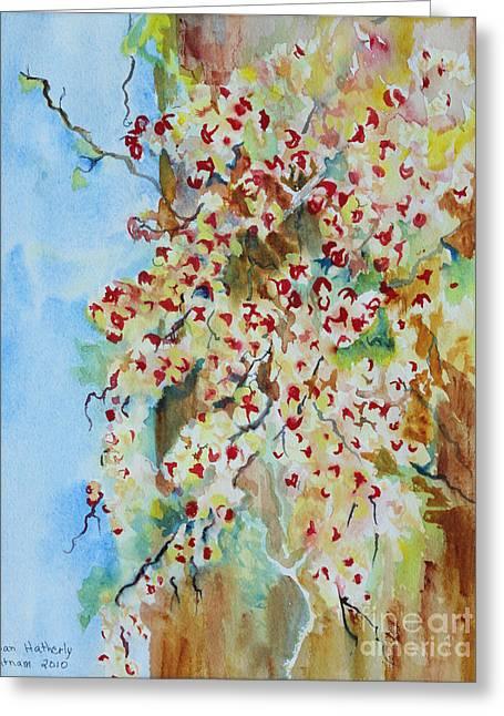 Bittersweet Paintings Greeting Cards - Bittersweet Tree Greeting Card by Joan Putnam