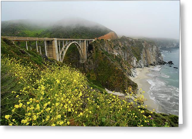 Big Sur California Greeting Cards - Bixby Bridge Greeting Card by Harry Spitz