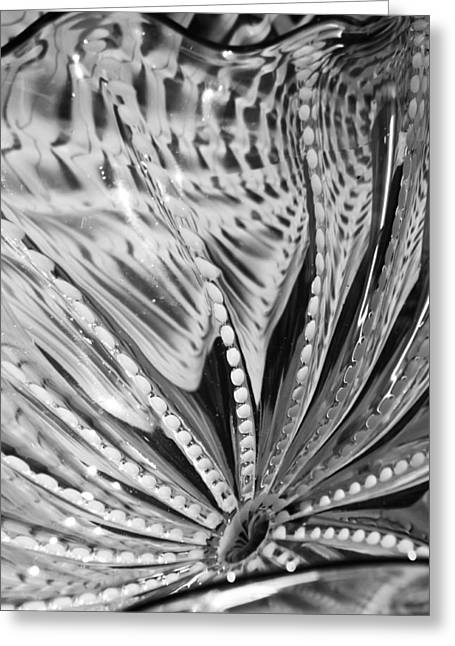 Dot Glass Greeting Cards - Black - White Greeting Card by Jan Canavan