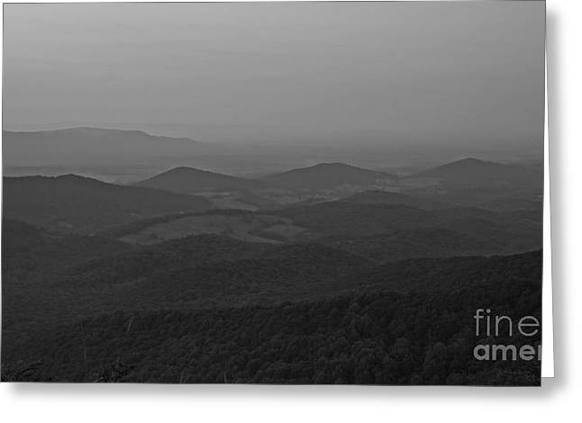 Mountain Valley Greeting Cards - Black and White - 2821 Greeting Card by Chuck Smith