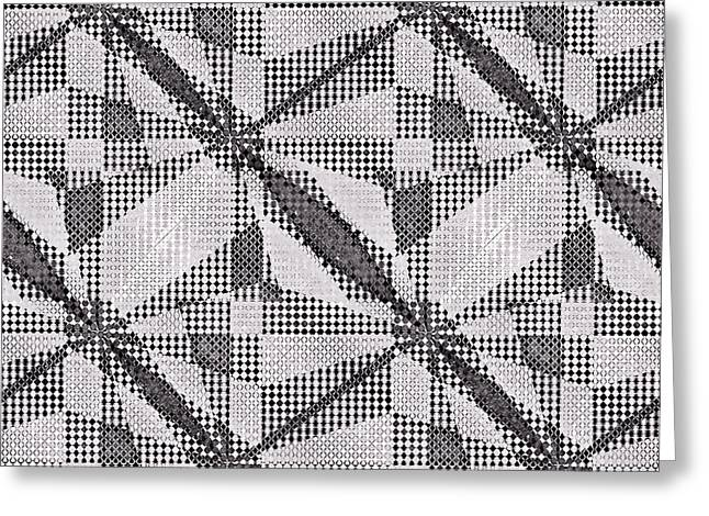 Susan Leggett Greeting Cards - Black and White Abstract Greeting Card by Susan Leggett