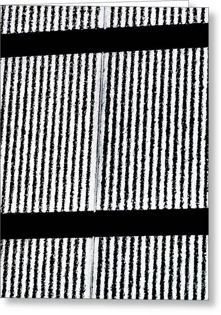 Thin Greeting Cards - Black and White and Black and White Greeting Card by Marsha Heiken
