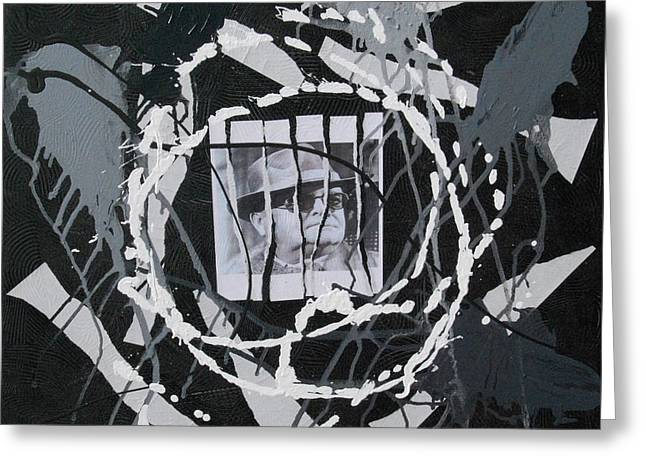 Capote Greeting Cards - Black and White Ball Greeting Card by Allan OMarra