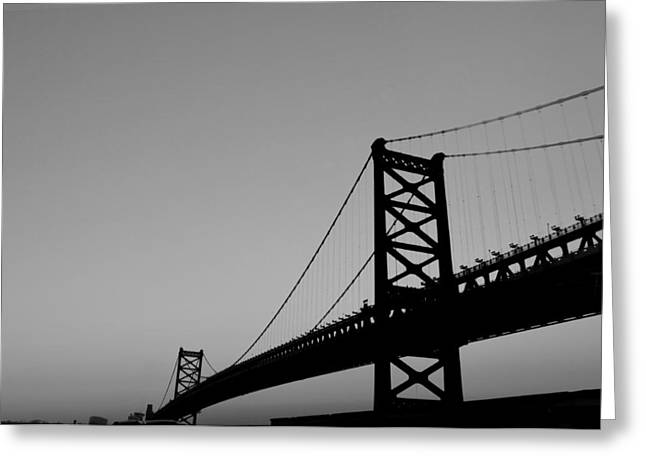 Black And White Bridge Greeting Card by Bill Cannon