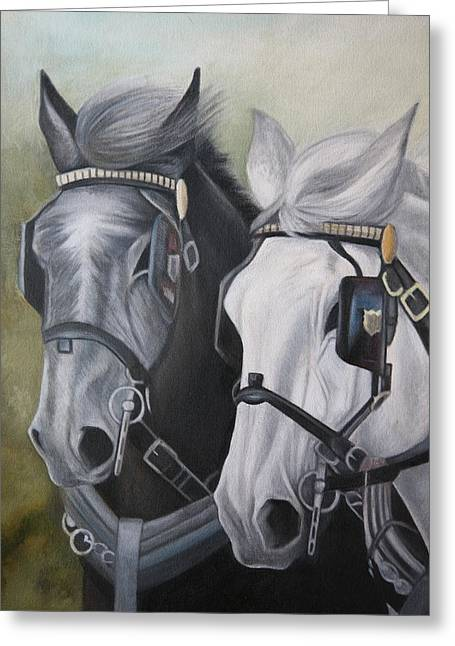 Driving Pastels Greeting Cards - Black and White Greeting Card by Stephanie L Carr