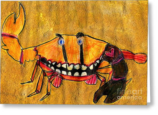 Best Sellers -  - Eyebrow Greeting Cards - bLAck aRm cRAb Greeting Card by Simon Shepherd