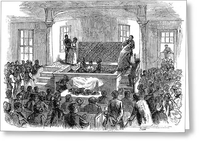 1874 Greeting Cards - Black Baptism, 1874 Greeting Card by Granger