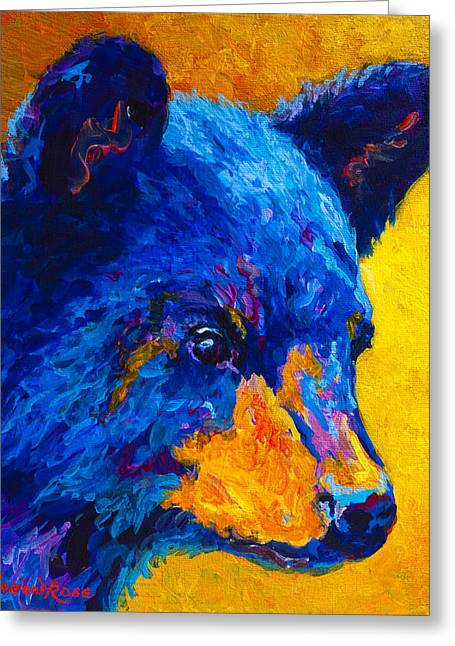 Wild West Greeting Cards - Black Bear Cub 2 Greeting Card by Marion Rose