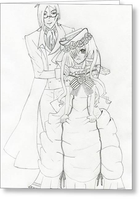 Best Sellers -  - Ball Gown Greeting Cards - Black Butler Fan Art Greeting Card by Ashley  Rommel