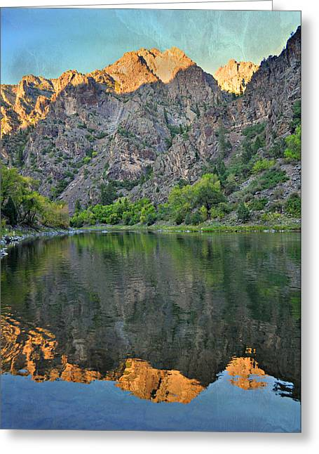 Gunnison Pyrography Greeting Cards - Black Canyon 4 Greeting Card by Marty Koch