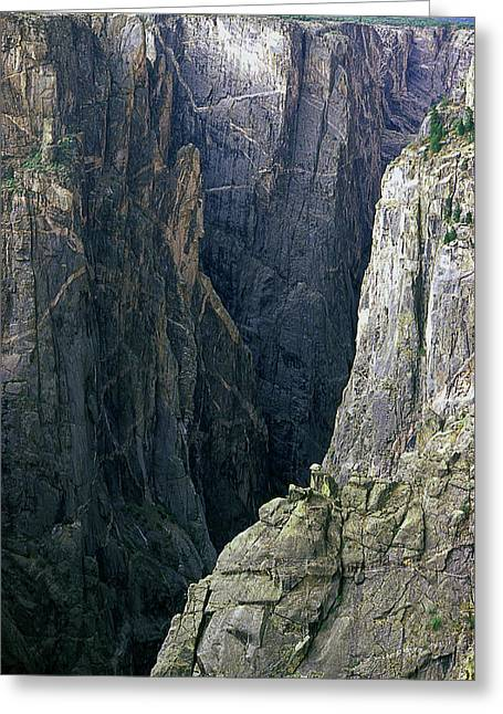 Color_image Greeting Cards - Black Canyon National Park Close View Greeting Card by John Brink