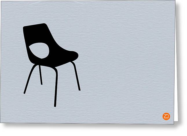 Eames Greeting Cards - Black Chair Greeting Card by Naxart Studio