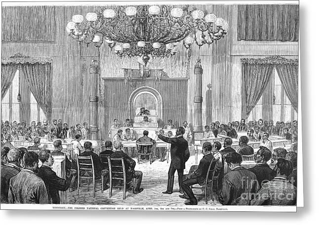 Convention Greeting Cards - Black Convention, 1876 Greeting Card by Granger