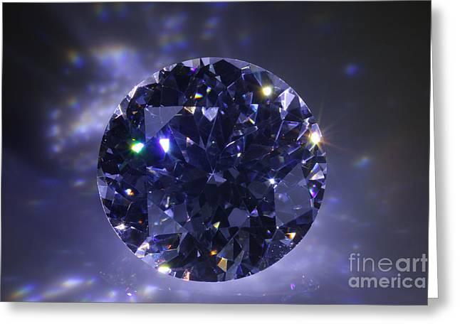 Black Diamond Greeting Card by ATIKETTA SANGASAENG