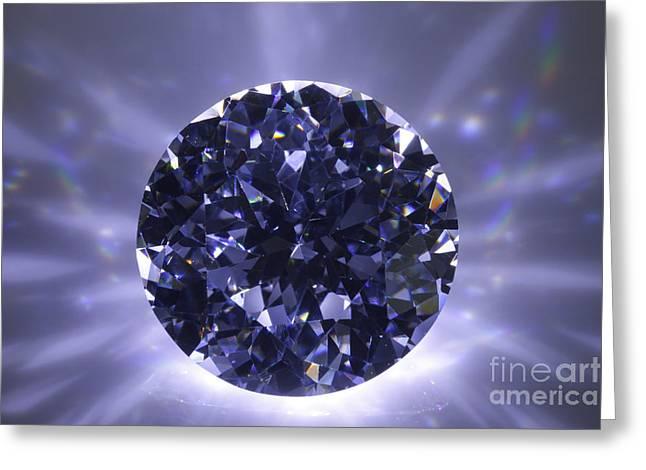 Rock Jewelry Greeting Cards - Black Diamond Shine Aura. Greeting Card by Atiketta Sangasaeng