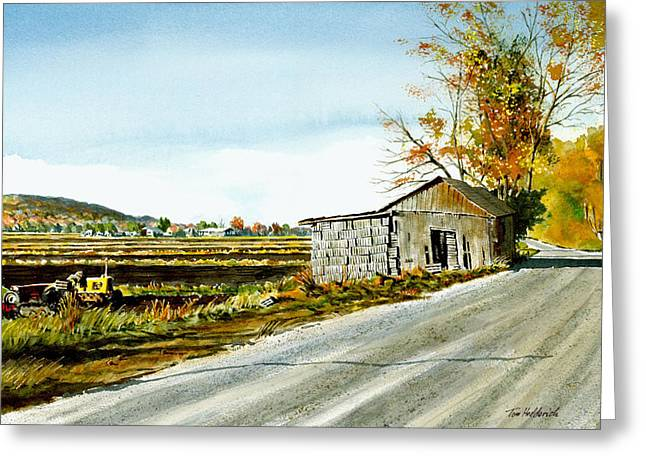 Warwick Paintings Greeting Cards - Black Dirt Morning Greeting Card by Tom Hedderich