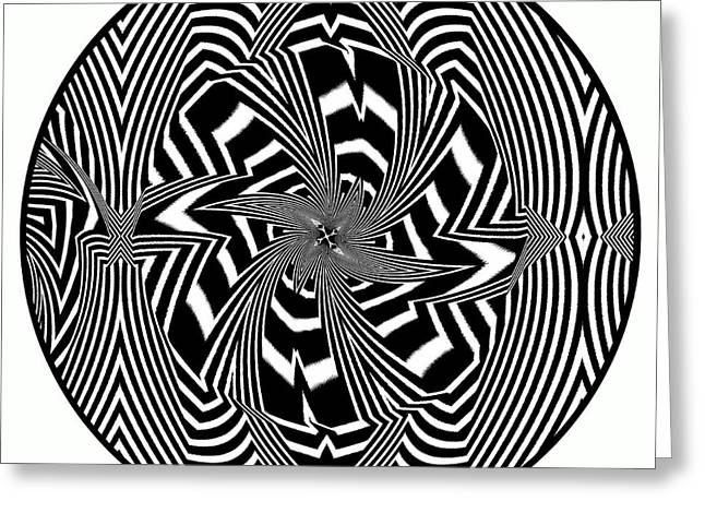 21st Greeting Cards - Black Flower Greeting Card by Visual Artist  Frank Bonilla