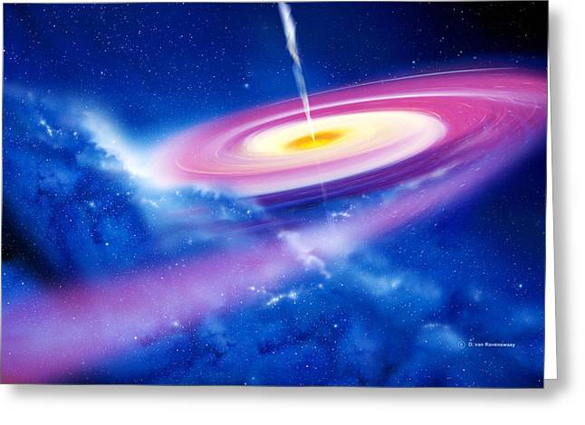 Jet Star Greeting Cards - Black Hole Greeting Card by Detlev Van Ravenswaay