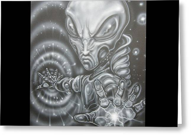 Alien Greeting Cards - Black hole Greeting Card by John Shook