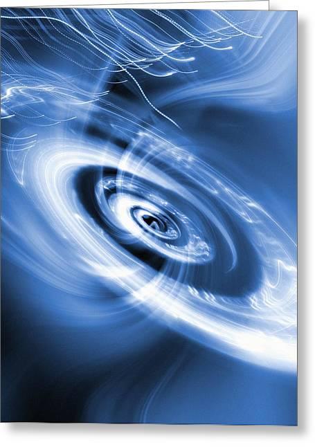 Stellar Evolution Greeting Cards - Black Hole Greeting Card by Mehau Kulyk