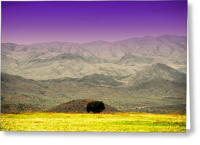 Mohave Az Greeting Cards - Black Mountains AZ Greeting Card by Susanne Van Hulst