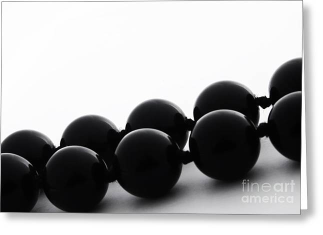 Black Pearls Greeting Card by Blink Images