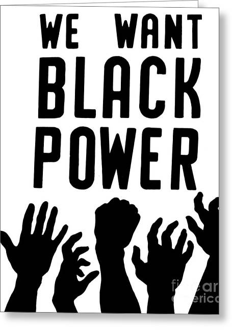 Coordinate Greeting Cards - Black Power, 1967 Greeting Card by Granger