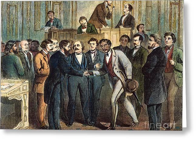 Menard Greeting Cards - Black Representative, 1868 Greeting Card by Granger