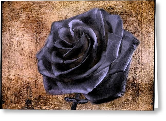 Black Lodge Digital Greeting Cards - Black Rose Eternal   Greeting Card by David Dehner