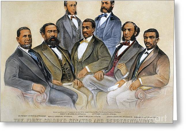1870s Greeting Cards - Black Senators, 1872 Greeting Card by Granger
