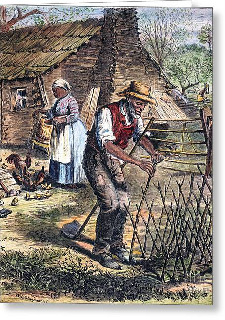 Sharecropper Greeting Cards - Black Sharecroppers, 1870 Greeting Card by Granger