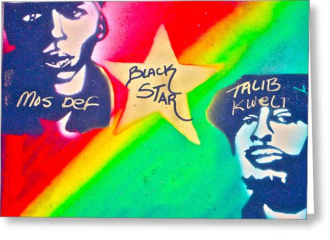 Free Speech Greeting Cards - Black Star Greeting Card by Tony B Conscious