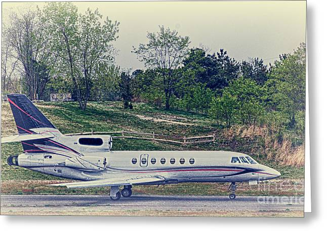 Hdr Photo Greeting Cards - Black Tail Plane Red Racing Stripes Greeting Card by Pictures HDR