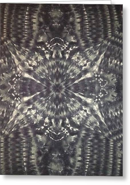 Monochrome Tapestries - Textiles Greeting Cards - Black Widow Greeting Card by Charles Boykin