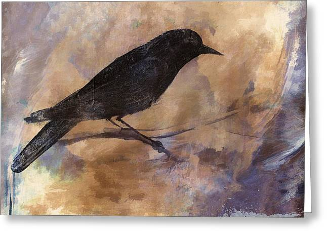 Blackbirds Greeting Cards - Blackbird Greeting Card by Carol Leigh